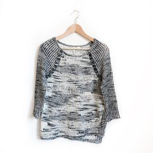 Anthropologie Moth Marled Cotton Knit Sweater
